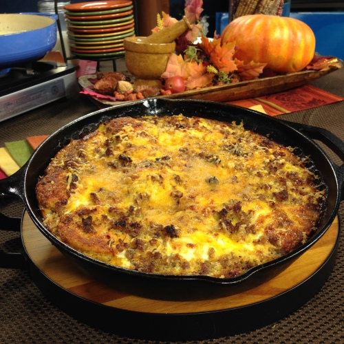 Sausage and Biscuit Casserole