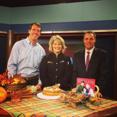 Chef Alli with Terry Holdren, Ks Farm Bureau, and Chris Fisher, WIBW, Nov. 2014