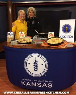 Donna Cook, Owner, Rabbit Creek Products, on Chef Alli's Farm Fresh Kitchen, August 2014, as part of WIBW 13 News This Morning.