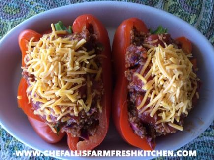 Quinoa and Beef Stuffed Bell Peppers
