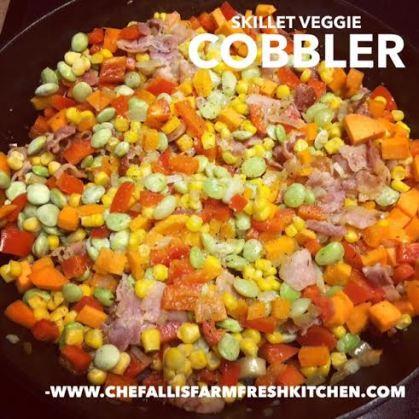 Skillet Veggie Cobbler