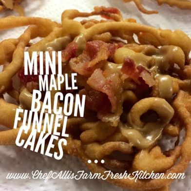 Mini Maple Bacon Funnel Cakes