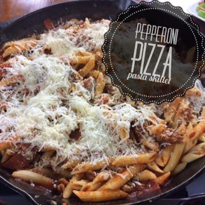 pepperoni pizza pasta skillet