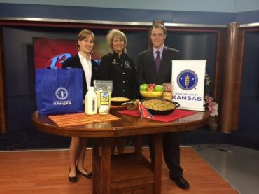 Stacy Mayo, Director, From the Land of Kansas, with Chef Alli and Chris Fisher, WIBW 13 News This Morning Anchor.