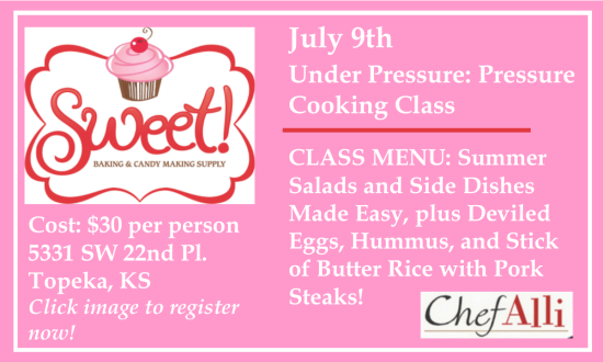 Pressure Cooking Class Ad