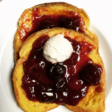 French Toast with Warm Berry Compote