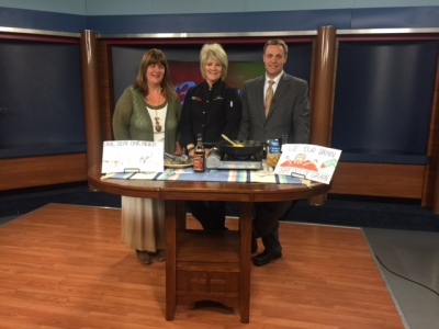 Serita Blankenship, Kansas Farm Bureau Farm Safety Manager, with Chef Alli and Chris Fisher, WIBW 13 News This Morning, April 2015.