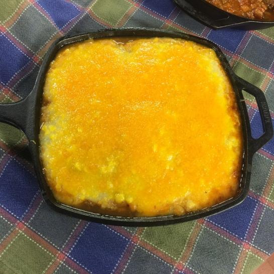 Beefy Mexican Polenta Pie