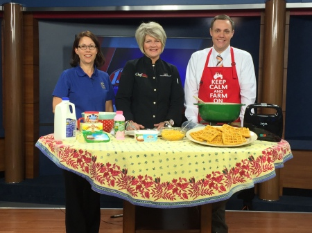 WIBW Chili and Waffles | Chef Alli's Farm Fresh Kitchen