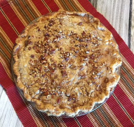 Apple Pecan Streusel with a NO-ROLL Pie crust!
