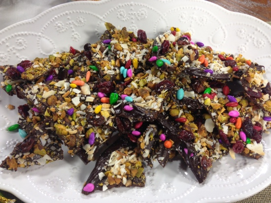 Dark Chocolate Holiday Bark | Chef Alli's Farm Fresh Kitchen