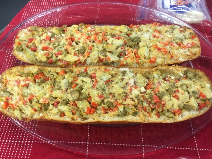 Loaded Cheesy Artichoke Bread