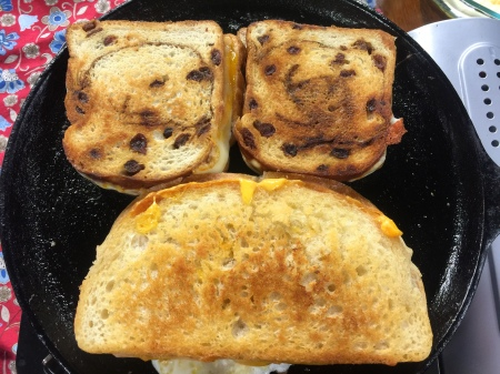 Muenster on Raisin Bread