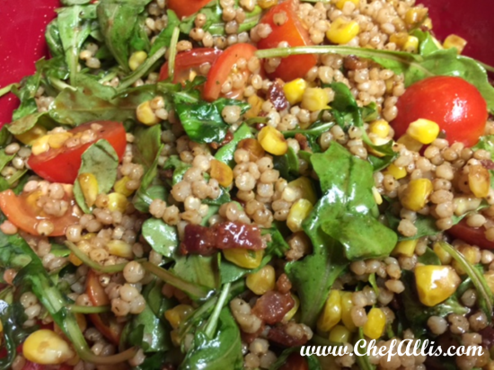 Pearled Sorghum Salad with Bacon and Arugula | Chef Alli's Farm Fresh ...
