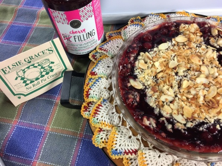 Cherry Crumble with Almond Glaze | Chef Alli's Farm Fresh Kitchen