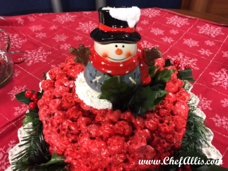 Holiday Popcorn Cake | Chef Alli's Farm Fresh Kitchen