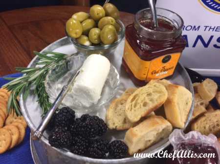 Assorted Spreads on a Holiday Charcuterie Board | Chef Alli's Farm Fresh Kitchen