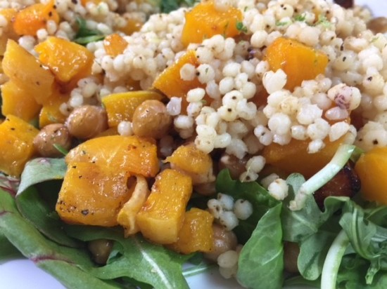 Roasted Butternut Squash with Pearled Sorghum and Chickpeas | Chef Alli's Farm Fresh Kitchen
